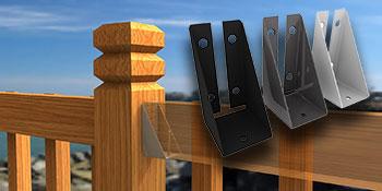 Raillok Deck Bracket For Fence Rail Sections Raillok