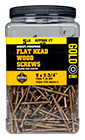 ( HDY104-5 ) 10 X 4-inch Heavy Duty Gold Star Star Drive Interior Multi Purpose Wood Screws / 250 ct 5lb Jar