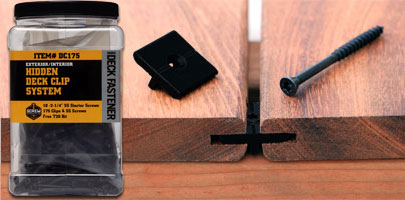 the deck clip hidden deck fastener system