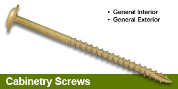 Cabinetry Screws