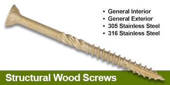 structural wood screws
