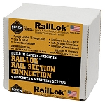 (RL3164PK) 316 Stainless RailLok Bracket ( Includes 4 Brackets and 20 Star Drive Screws)