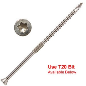 "(SSTH-09400-5)  9 x 4"" Silver Star Trim Head ""Star Drive"" 305 Stainless Steel  Screws - 5 lb / 351 pc Approx"